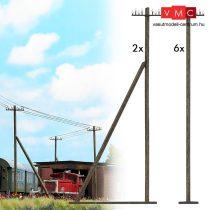 Busch 1499 Távíróoszlop (8 db), valódi fából (H0)