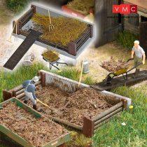 Busch 1526 Trágyatároló kiegészítőkkel, valódi fából (H0)