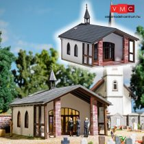 Busch 1566 Temetői kápolna, ravatalozó (H0)
