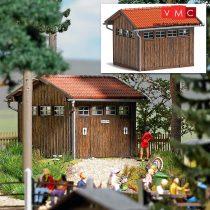Busch 1586 Köztéri WC, valódi fából (H0)