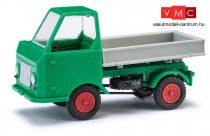 Busch 210003600 Multicar M22 oldalbillencs, szürke/zöld (H0)