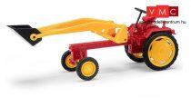 Busch 210004700 RS09 traktor homlokrakodóval, piros (H0)