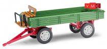 Busch 210009201 Pótkocsi T4, üléssel, zöld/piros (H0)