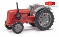 Busch 210010116 Famulus traktor, piros, szürke felnikkel (H0)
