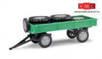 Busch 210010202 Pótkocsi T4, zöld - rakománnyal (H0)