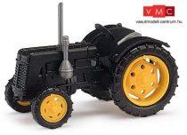 Busch 211006806 Famulus traktor, fekete, sárga felnivel (TT)