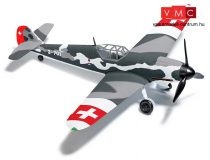 Busch 25017 Messerschmitt Bf 109 G6 repülőgép, Schweiz (H0)