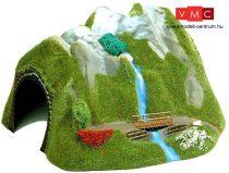 Busch 3007 Alagút vízeséssel, egyvágányos, íves (R 500-650 mm) (H0)