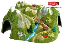 Busch 3021 Sarokalagút patakkal és kis híddal, egyvágányos, íves (R 350-400 mm) (H0)