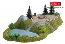 Busch 3109 Erdei pihenőhely kis tóval - Kész modell (H0)