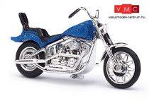 Busch 40152 Amerikai motorkerékpár, chopper, metálkék színben (H0)