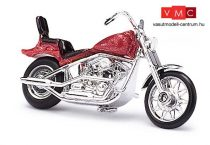 Busch 40153 Amerikai motorkerékpár, chopper, metálpiros színben (H0)