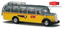 Busch 41035 Mercedes Benz O 3500 (1949) busz, Schweizer Postbus (H0)