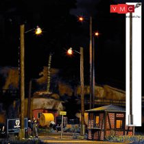 Busch 4111 Állomási lámpa faoszlopon (LBL), sárga LED (H0)