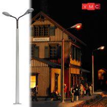 Busch 4138 Lámpa betonoszlopon, dupla, sárga LED (H0)