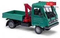 Busch 42221 Multicar, hosszú tengelytávú platós teherautó, daruval (H0)