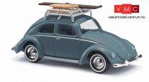 Busch 42734 Volkswagen Käfer (bogár), tetőcsomagtartóval, kék (H0)