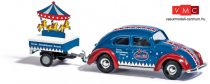 Busch 42737 Volkswagen Käfer (bogár), cirkuszi utánfutóval - Merz & Pilini (H0)