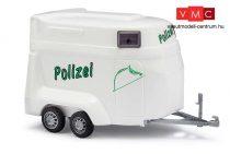 Busch 44925 Rendőrségi lószállító utánfutó - Polizei (H0)