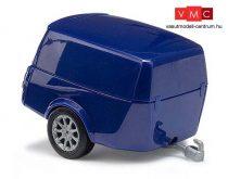 Busch 44992 Clevetrailer dobozos utánfutó - kék (H0)