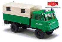 Busch 50216 Robur LO 2002 A, ponyvás teherautó, Polizei (H0)