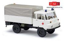 Busch 50232 Robur LO 2002 A ponyvás teherautó, Német Vöröskereszt - DRK (H0)