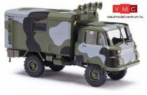 Busch 50238 Robur LO 2002 A, katonai dobozos teherautó - álcafestéssel (H0)