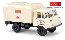 Busch 50244 Robur LO 2002 A, dobozos mentő - Rotes Kreuz (H0)