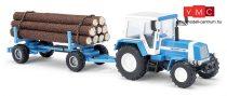 Busch 50404 Fortschritt ZT 323 traktor farönkszállító pótkocsival (H0)