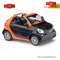 Busch 50774 Smart Fortwo Cabrio (2015), fekete - CMD (H0)