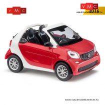 Busch 50778 Smart Fortwo Cabrio (2015), piros - CMD (H0)