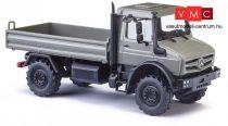 Busch 51025 Unimog U 5023 platós teherautó, szürke (H0)