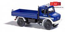 Busch 51026 Unimog U 5023, platós teherautó - THW (H0)
