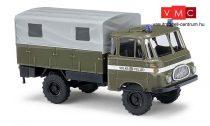 Busch 51600 Robur LO 1800 A, ponyvás NDK rendőrégi teherautó - Volkspolizei (H0)