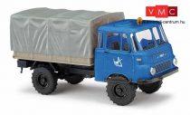 Busch 51652 Robur LO 1801 A, ponyvás teherautó - VEB SK Wasserbau (H0)