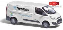 Busch 52410 Ford Transit Custom, dobozos, Hermes Versand (H0)