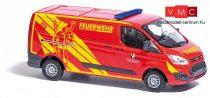 Busch 52413 Ford Transit Custom tűzoltó,FW Baiersdorf (H0)