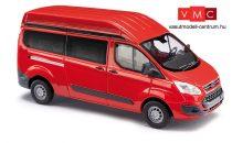 Busch 52500 Ford Transit Custom HD busz, piros (H0)