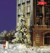 Busch 5409 Havas karácsonyfa világítással, hóemberrel (H0)