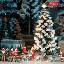 Busch 5411 Havas karácsonyfa világítással - 90 mm (H0)