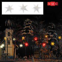 Busch 5414 Karácsonyi világító csillag, fehér - 3 db (H0)
