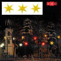 Busch 5415 Karácsonyi világító csillag, sárga - 3 db (H0)