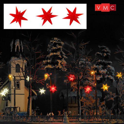 Busch 5416 Karácsonyi világító csillag, piros - 3 db (H0)