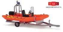 Busch 59951 Utánfutó motoros mentőgumicsónakkal - DLRG (H0)
