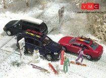 Busch 6004 Téli kiegészítő készlet autókhoz (H0)