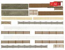 Busch 6017 Kerítés, téglafal és kapu készlet (H0)