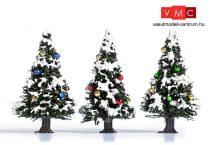 Busch 6464 Havas karácsonyfa díszekkel, 3 db (40 mm) (TT)