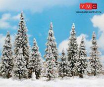 Busch 6465 Havas fenyőfák (10 db), hóemberrel (H0)
