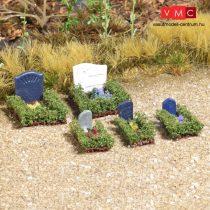 Busch 7686 Mini-Welt: Temetői sírok bokrokkal határolva (H0)
