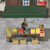 Busch 7706 Mini-jelenet: Zöldség és gyümölcsárus (H0)